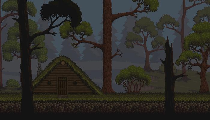 PixelArt Forest Platformer Asset. #4