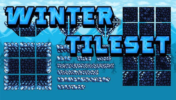 Pixel-Art Winter Tileset