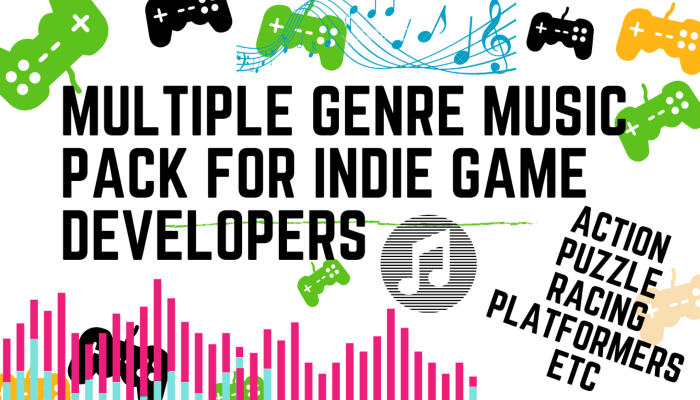 ALL IN ONE MUSIC PACK FOR INDIE GAME DEVELOPERS (ACTION,PUZZLE,RACING,PLATFORMERS,ETC)