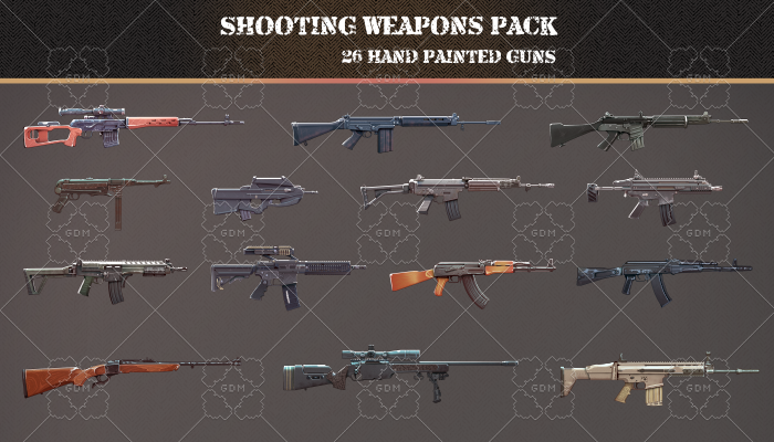 Shooting weapons pack