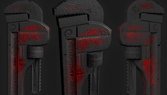 Dirty Rust Filled Pipe Wrench