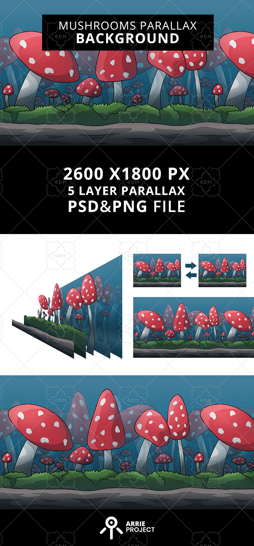 Moshrooms Parallax background