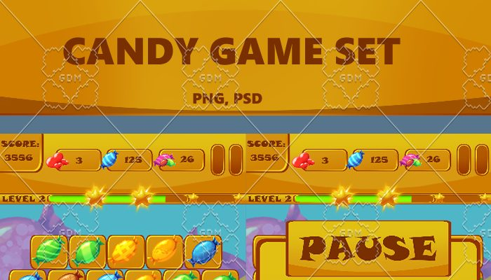 Match 3 Game Kit: Candy