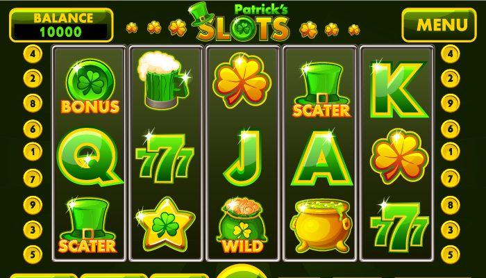 Complete menu slot style St.Patrick
