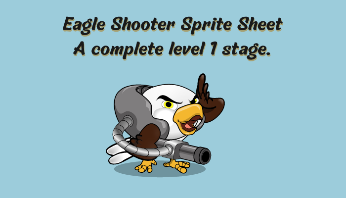 Eagle Shooter Complete sprites background and enemy