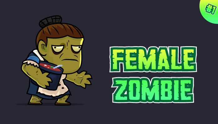 Female Zombie Character Sprites 01