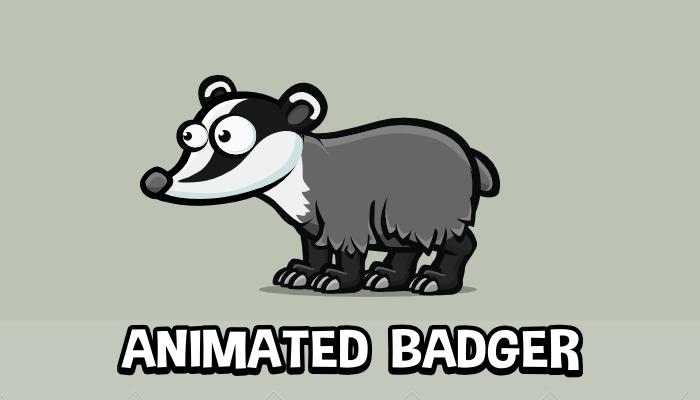 Animated badger cartoon sprite