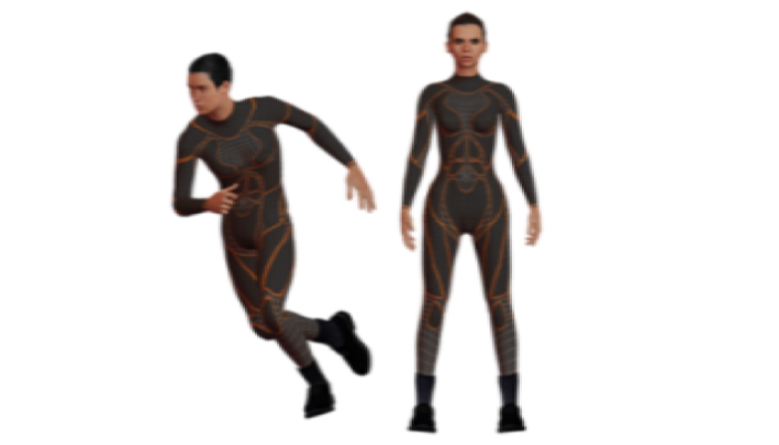 Si-Fi Rigged Game Ready Male and Female 3d Model Pack(FBX)