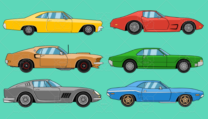 2D Muscle Car Collection