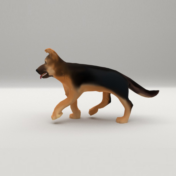 German Shepherd puppy Animated