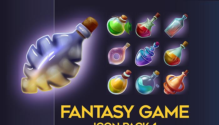 2D Fantasy Potion pack