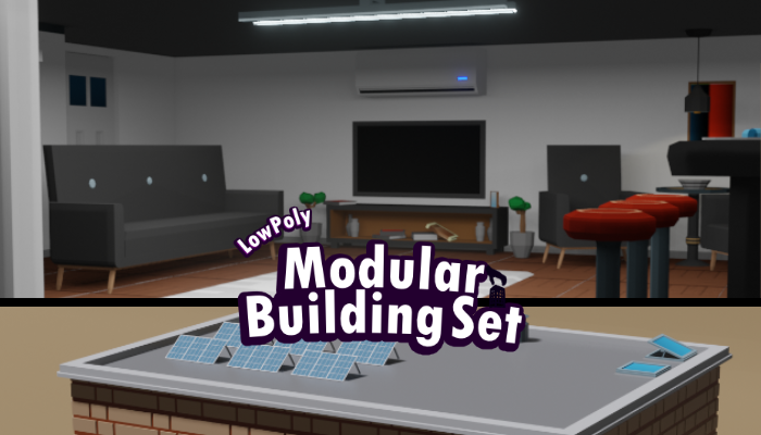 Low Poly Modular Building Set