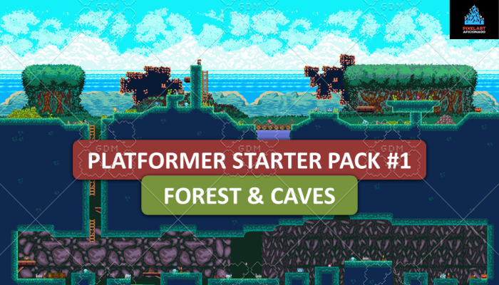 Platformer Starter Pack #1 (Tileset, Background, Player, Enemies, Song)