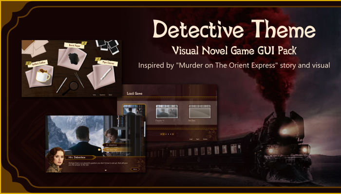 Detective Themed Visual Novel GUI Pack