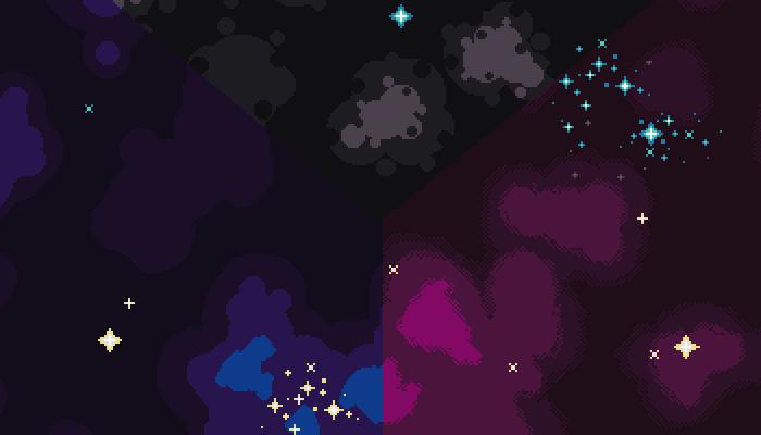Pixel art space backgrounds