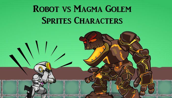 Robot vs Magma Golem