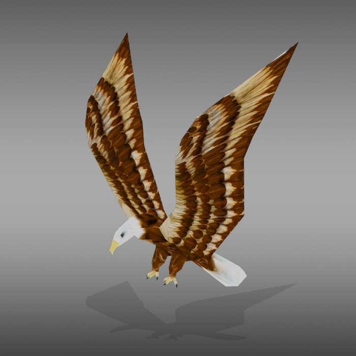 Eagle Animated Low ploy