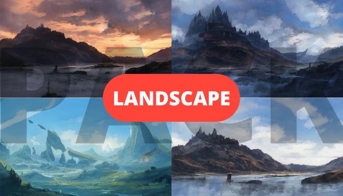 7x Landscape background