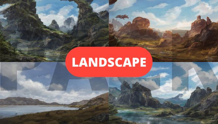 12x Landscape background