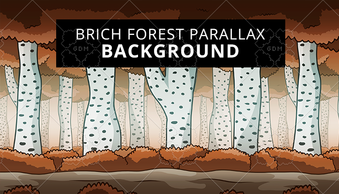 Brich Forest Parallax Background