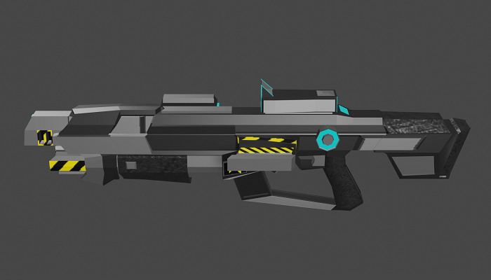 Low-Poly Pulse Rifle