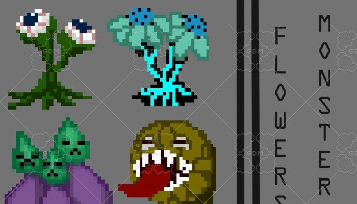 flower monsters \ pixel creatures