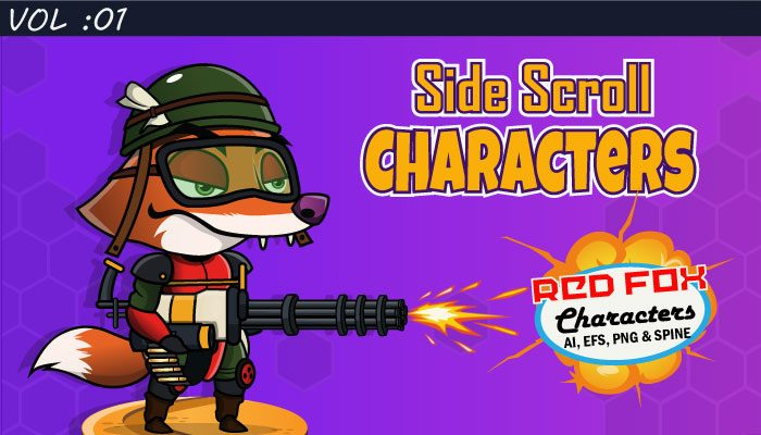 Side Scroll Character VOL :01 Red Fox