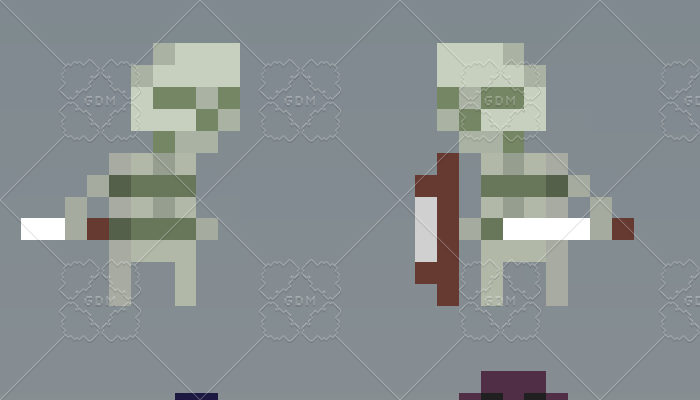4 Skeletons 16×16