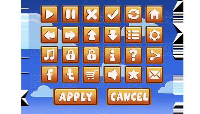 Cartoon Buttons SET 24+2