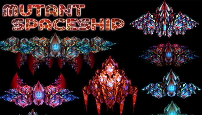 Mutant Spaceship [150+ Top-Down Space Units]