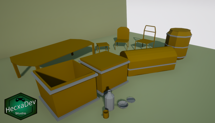 Low Poly Dungeon Props