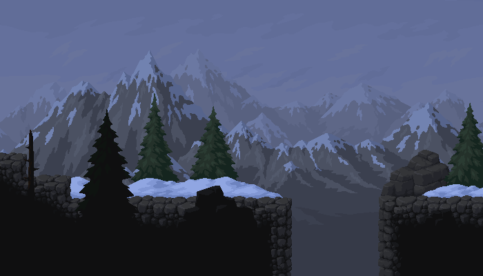 PixelArt Mountains Platformer Asset. #5