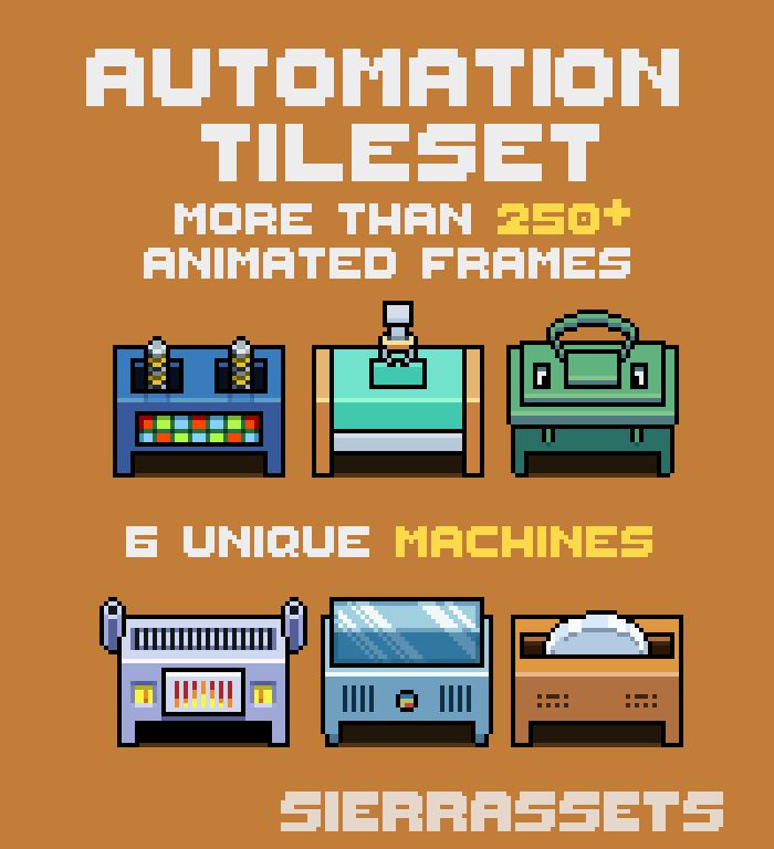 Pixel Art Automation Tileset