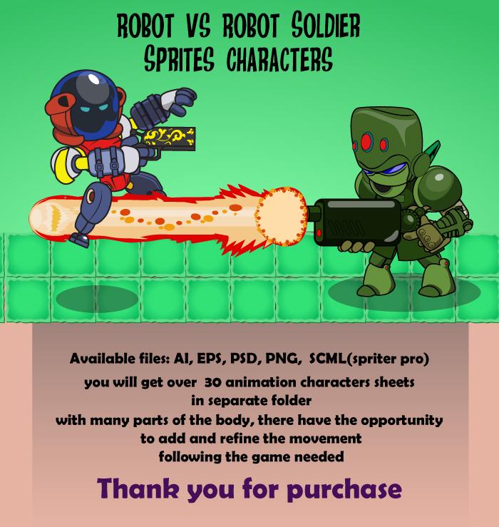 Robot vs Robot Soldier