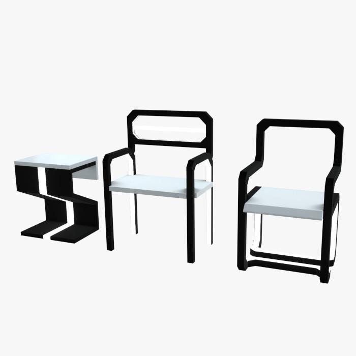 Minimalistic Sci-Fi Chairs