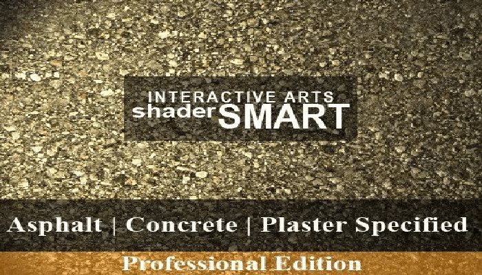 Asphalt, Concrete, Plaster Specified Shader Smart, Professional Edition