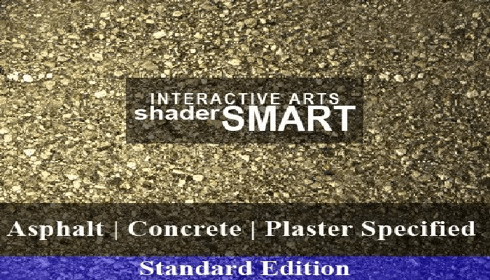 Asphalt, Concrete, Plaster Specified Shader Smart, Standard Edition