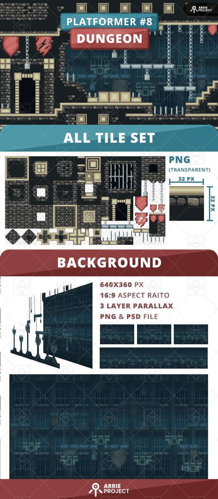Platformer 8 Dungeon