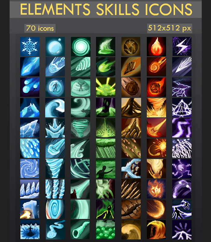 Elements Skill Icons