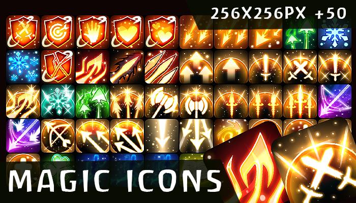 +50 Magic Spells Icon Pack
