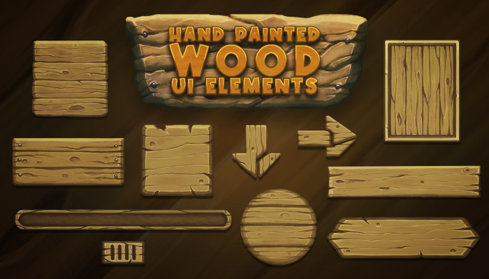 Wood Ui Elements