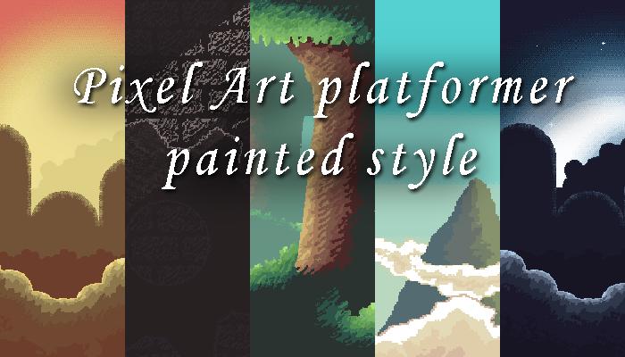 Pixel Art Platformer Painted Style