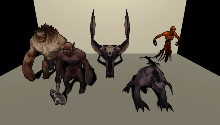 Monster Creature Pack 02 – Enemies – Textured Low Poly