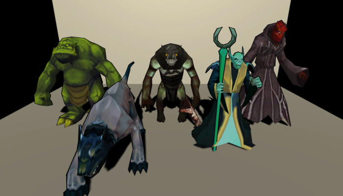 Monster Creature Pack 03 – Enemies – Textured Low Poly