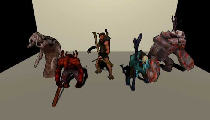 Monster Creature Pack 04 – Enemies – Textured Low Poly