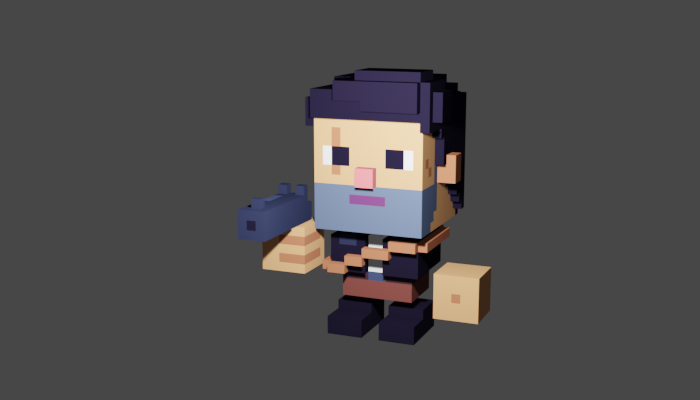 Voxel Character Animated