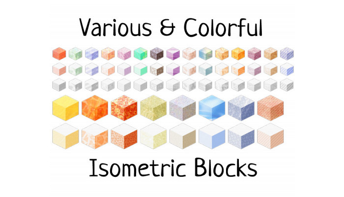 Colorful Isometric Blocks