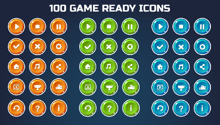 Round Mobile Game Icon Pack