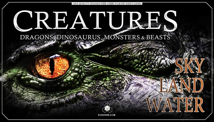Monster, Beast, Dinosaur & Dragon Sound Effects Library – Creature Voice Overs & Foley SFX