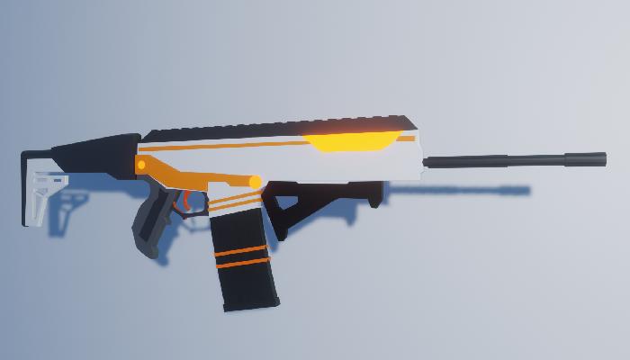 Low Poly Sci-fi Rifle